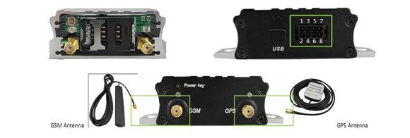 รูปที่ 4 ส่วนต่ออุปกรณ์ต่างๆ และสาย Input / Output